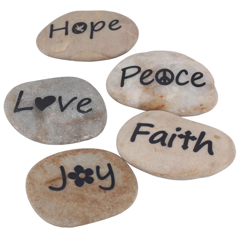 Stonebriar Collection Set of 5 Sentiment Rocks