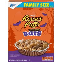 General Mills, Reese's Puffs Bats Breakfast Cereal, Halloween, Family Size, 20.7 OZ
