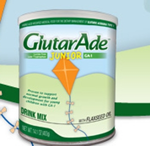 GlutarAde Junior GA-1 Oral Supplement Powder 14.1 oz. Can, Case of 4