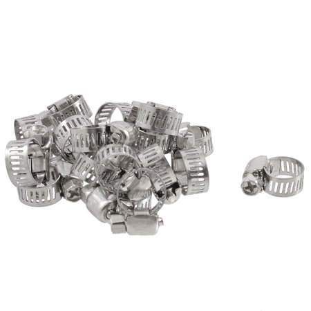 Release Worm (Unique Bargains 20 Pcs Bolt Release 9mm to 16mm Worm Drive Hose Clamps Pipe Hoops)