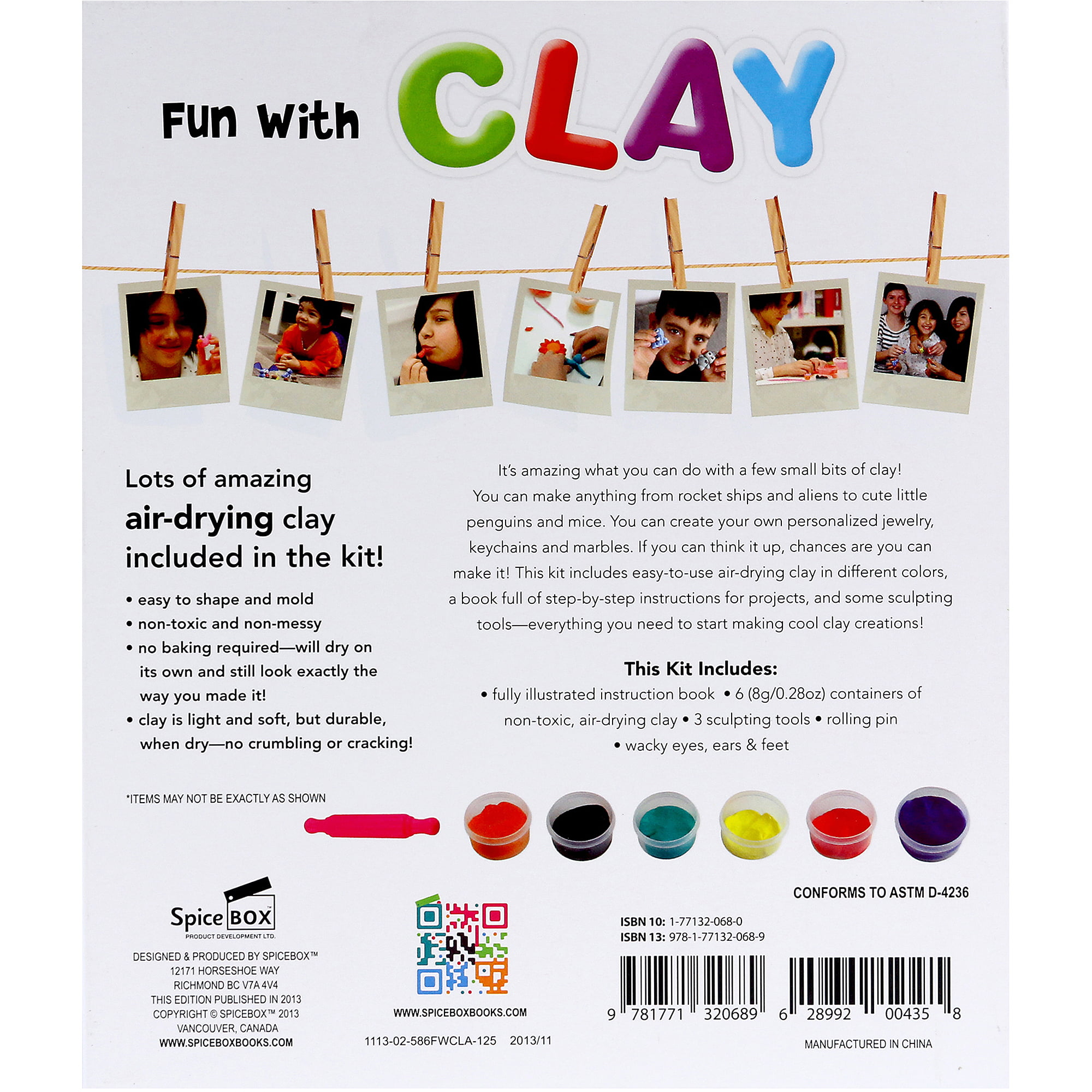 Spicebox Fun with Clay Toy 8 Containers