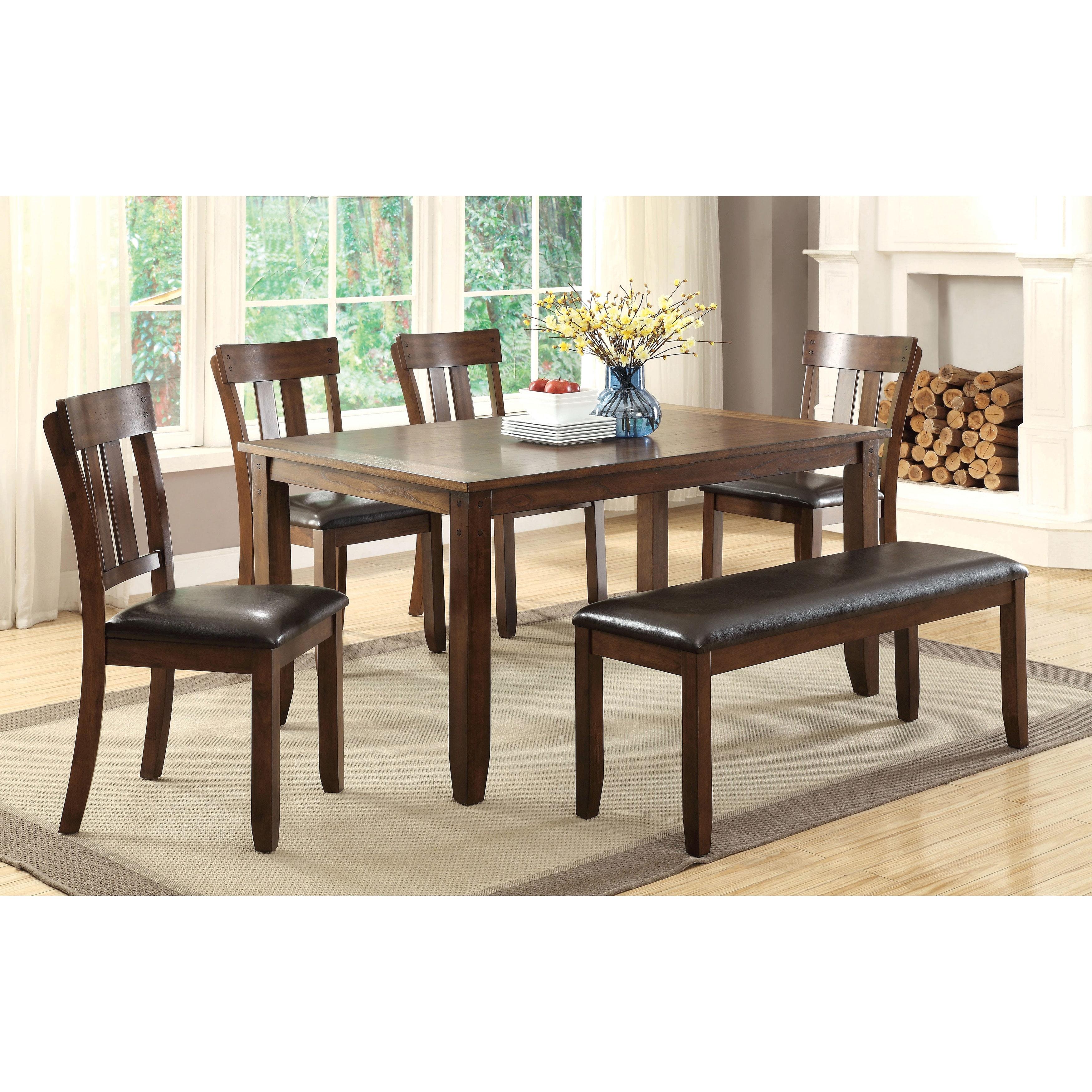 Furniture Of America Casington Country Style Rustic Oak 64 Inch