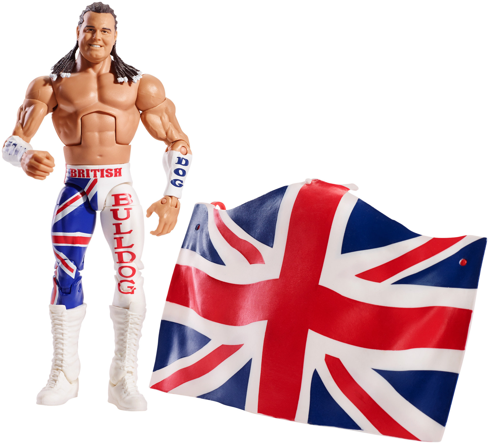 WWE Elite Figure, British Bulldog Battle Action Figure