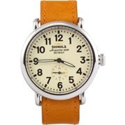 Shinola The Runwell Cream Dial Anxious Abilene Leather Mens Watch S0100032