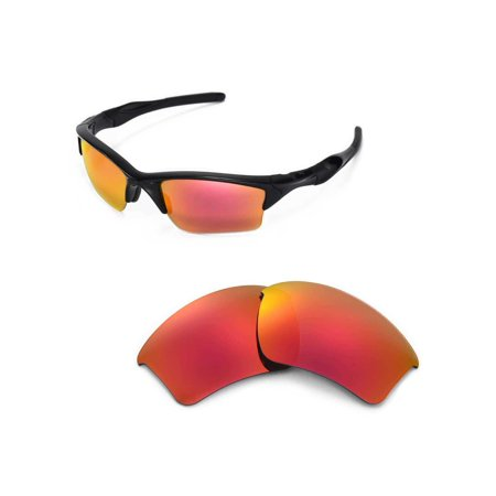 a4d5c21727a Walleva Fire Red Replacement Lenses for Oakley Half Jacket 2.0 XL Sunglasses