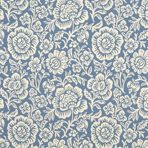 Designer Fabrics F404-B 54 inch Wide Blue And Beige Floral Matelasse Reversible Upholstery Fabric