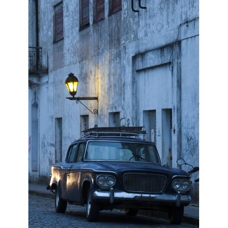 Manos Del Uruguay Cotton (Colonia Del Sacramento, Old 1960S Studebaker Lark Car on Calle San Jose, Uruguay Print Wall Art By Walter Bibikow )