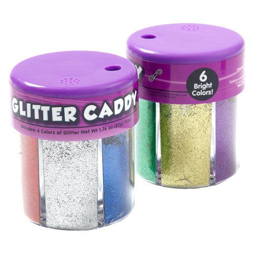 Kids Craft Glitter Caddy, Basic Colors