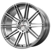 "KMC KM707 Channel 20x9 6x120 +30mm Brushed Wheel Rim 20"" Inch"