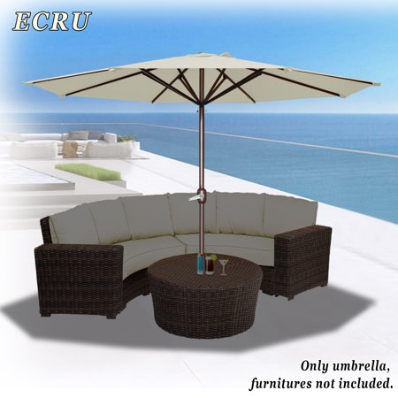 11 5 Round Patio Umbrella Outdoor Market Sunshade Garden In Ecru Color