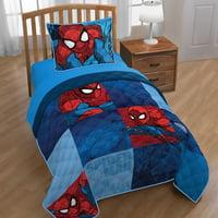Marvel Spiderman Burst Twin/Full Quilt and Sham Set