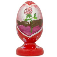 BestPysanky Gifting a Valentine's Rose Wooden Figurine