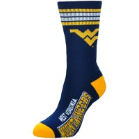 West Virginia Mountaineers For Bare Feet Women's Four Stripe Socks