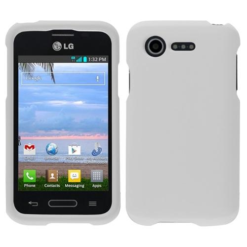 INSTEN White New Thin Hard Snap On Protective Case for LG Optimus Zone 2 VS415PP L34C Fuel