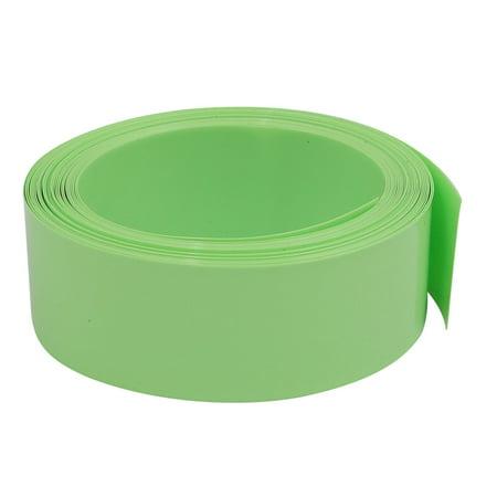 Unique Bargains 23mm Flat Width 5M Long PVC Heat Shrinkable Tube Olive Green for AA Battery - image 1 de 1