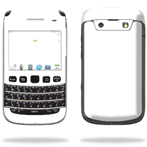 Mightyskins Protective Skin Decal Cover for Blackberry Bold 9790 Cell Phone wrap sticker skins Solid White