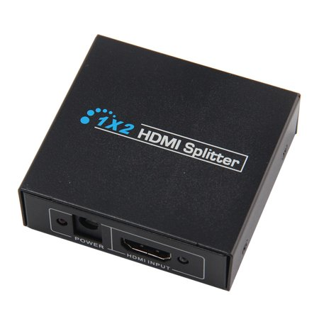 S-video Distribution Amp - 1 inx2 Out HDMI Distribution Amplifier Amp Distributor Splitter 3D HD 1080p