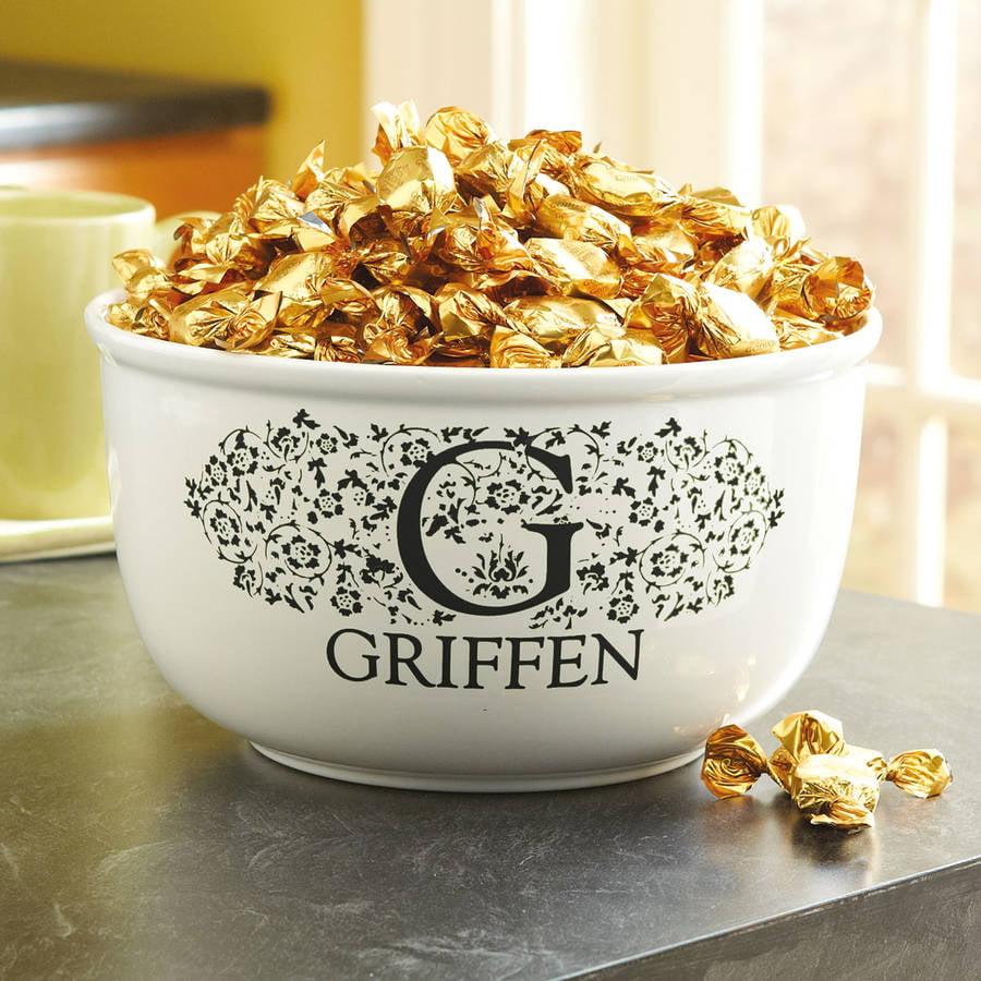 Personalized Popcorn Bowl, Black