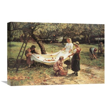 Global Gallery The Apple Gatherers By Frederick Morgan Painting On Wrapped Canvas