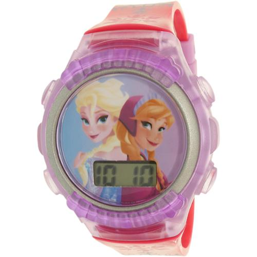 Disney Girl's Frozen FNFKD013 Purple Rubber Quartz Watch