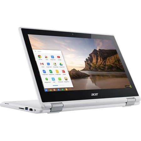 "Acer - R 11 CB5-132T-C8ZW 2-in-1 11.6"" Touch-Screen Chromebook - Intel Celeron - 4GB Memory - 16GB eMMC Flash Memory - WhiteLaptop Notebook PC Computer Touchscreen"