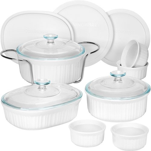 Corningware French White 14 Piece Bakeware Set Walmart Com