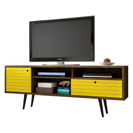 Manhattan Comfort Liberty Modern Tv Stand With 4 Shelves And 1 Drawer