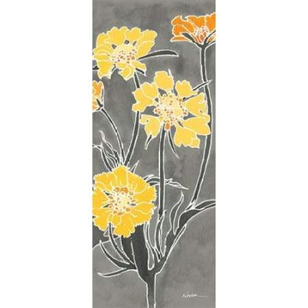 Cloisonne Beauty II Gray Canvas Art - Shirley Novak (24 x 48)