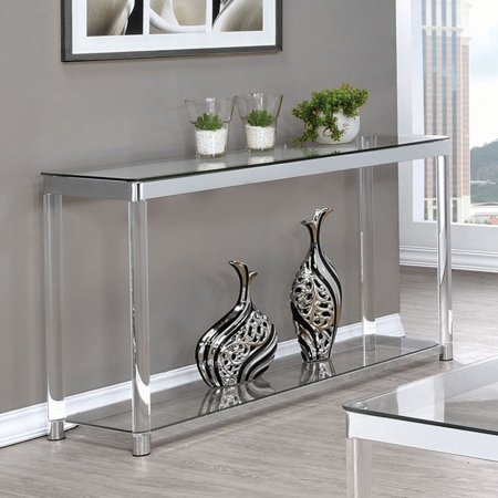 Coaster Company Sofa Table, Chrome and Clear Acrylic