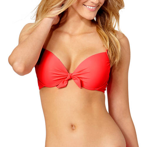Tahiti Women's Push Up Bikini Top With Bow Detail