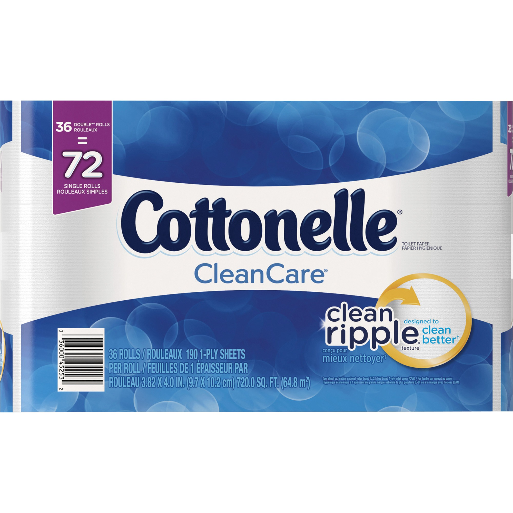 Cottonelle Clean Care Toilet Paper, 36 Double Rolls