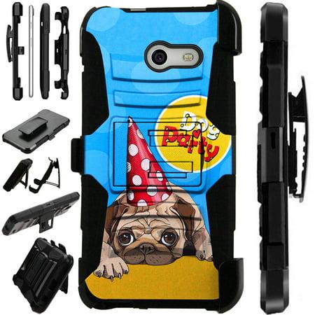 LuxGuard Phone Case Cover For Samsung Galaxy J3 Emerge | J3 Mission | J3 Eclipse | J3 Luna Pro (Dog Party) - Party Galaxy Okc