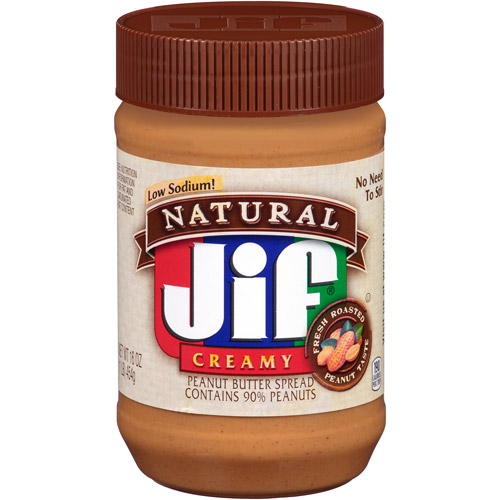 Jif Natural Creamy Peanut Butter, 16 oz