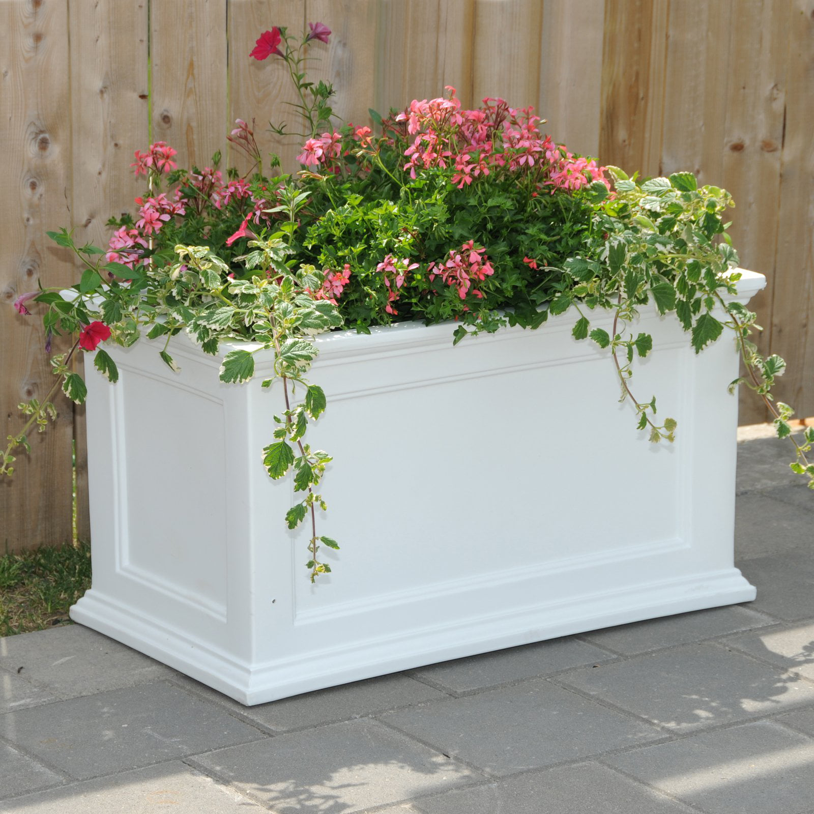 Fairfield Patio Planter 20x36 White by Mayne Inc.