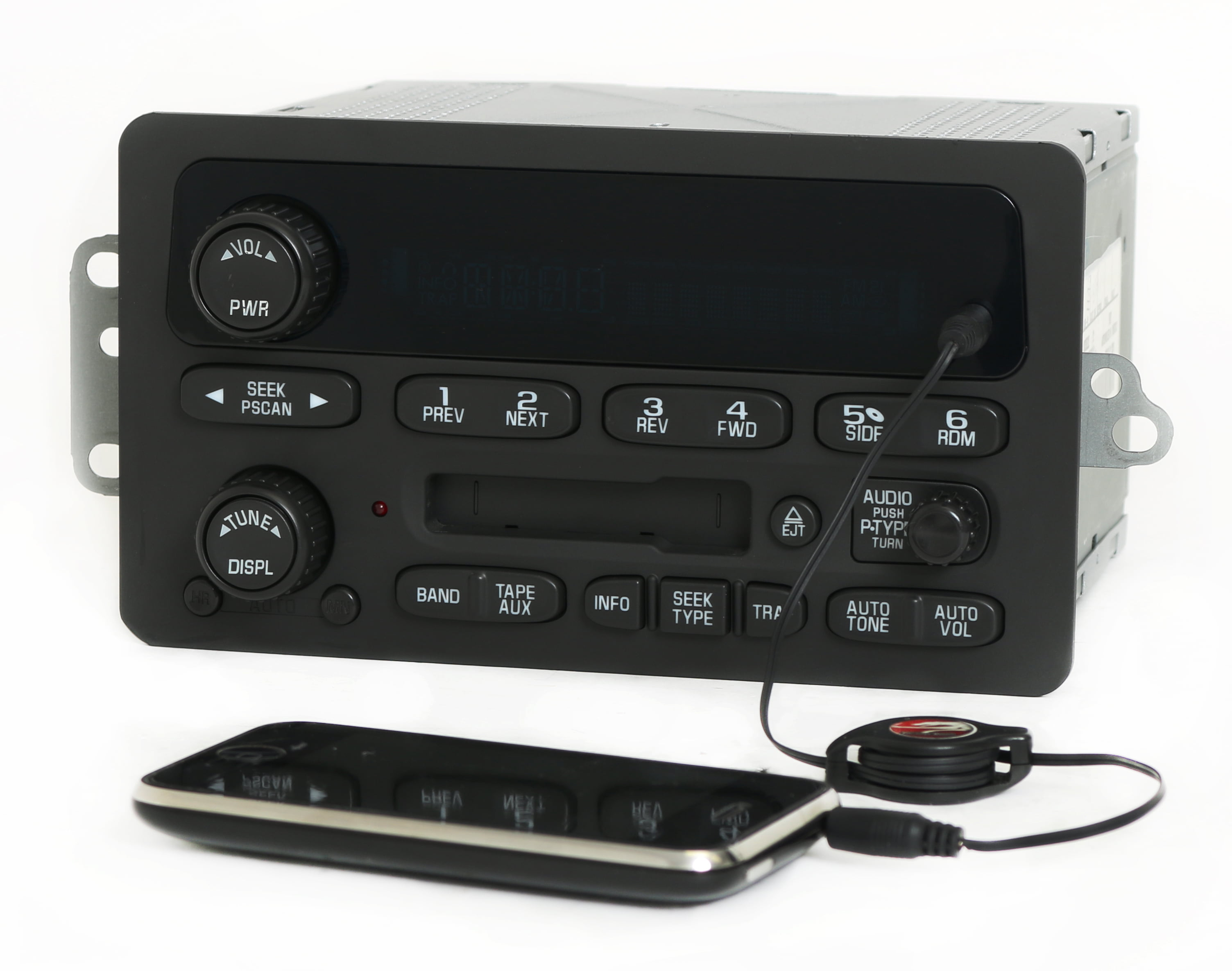 Chevy Impala Monte Carlo 2003-05 Radio AMFM Cassette Player w Aux Input 10335222 Refurbished by GM
