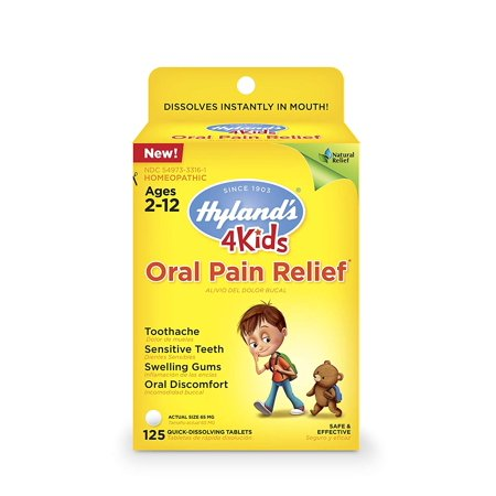 Hylands 4 Kids Oral Pain Relief Homeopathic, 125 Quick Dissolve Tablet (Best Homeopathic Brands In India)