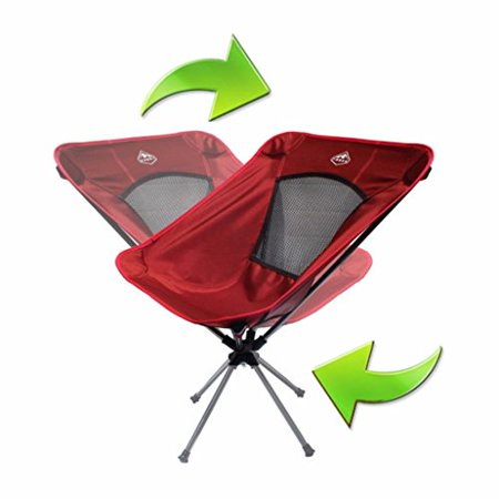 Admirable Trekk Ultralight Compact Folding Swivel Camping Chair Campfire Red Camellatalisay Diy Chair Ideas Camellatalisaycom