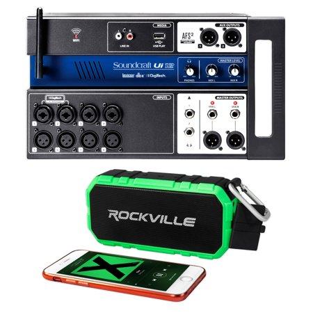 soundcraft ui12 12 input digital mixer w wifi app control bluetooth speaker. Black Bedroom Furniture Sets. Home Design Ideas