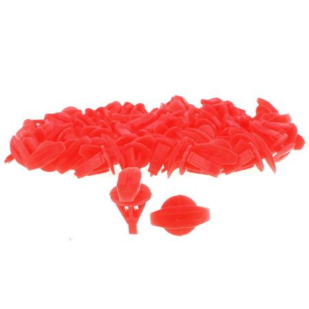 Plastic Trim Clips Rivets Car Bumper Door Fastener 15mm Length Red 50 Pcs - image 1 de 1