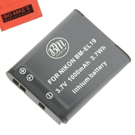 BM Premium EN-EL19 Battery for Select Nikon Coolpix Digital Cameras - image 1 de 3
