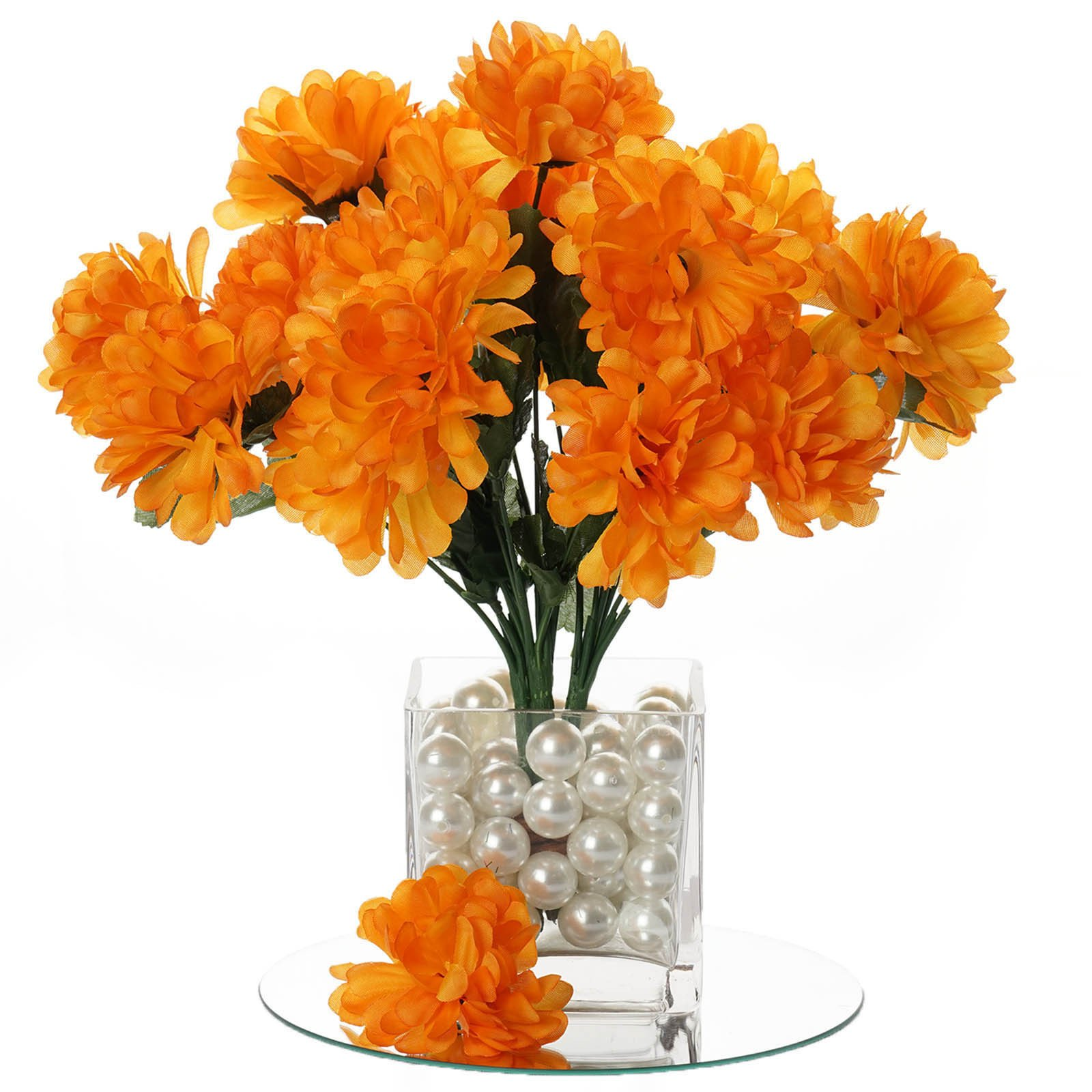 BalsaCircle 84 Chrysanthemum Mums Balls Silk Flowers - DIY Home Wedding Party Artificial Bouquets Arrangements Centerpieces