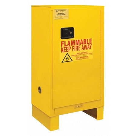 Durham Leg - durham 1016ml-50 50 in. flammable storage cabinets with legs, yellow - 16 gal