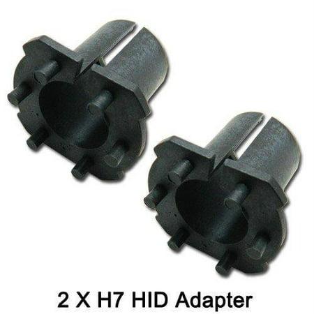 Xotic Tech 2x HID Xenon H7 Bulb Adapter Holder for Mazda 3 5 6 CX-7 MX-5 RX-8 Protege 5 (2000 Mazda Protege Headlight)