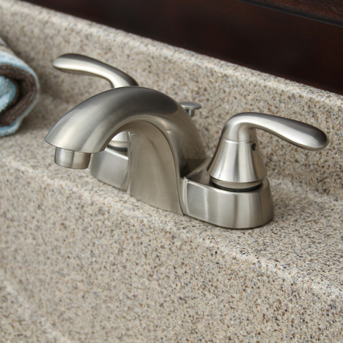 Premier Faucet Waterfront 2 Handle Bathroom Faucet with Optional Pop-Up Drain