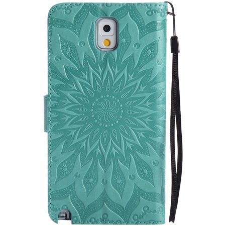 Samsung Note 3 Case, ISADENSER Leather Folio Flip Cover Case With Kickstand Card Slot for Samsung Galaxy Note 3 + 1 Pcs - image 4 of 4