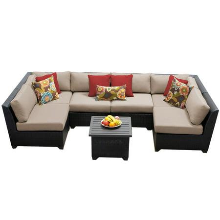 Bermuda 7 Piece Outdoor Wicker Patio Furniture Set 07c ...