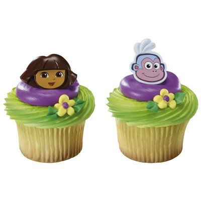 - dora the explorer and boots cupcake rings - 24 pcs by decopac