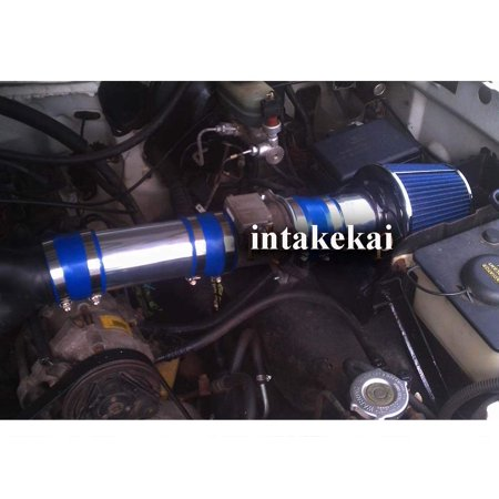 1994 1995 1996 FORD BRONC F-150 5.0 5.0L 5.8 5.8L V8 ENGINE (WILL ONLY FIT FOR VEHICLE HAS THE MAF SENSOR UNIT) AIR INTAKE KIT SYSTEMS (1994 Ford F 150 Engine 5-8 L V8)