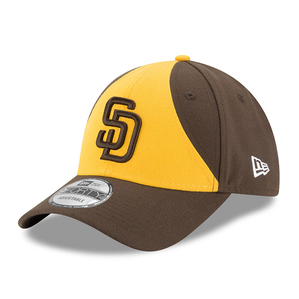 San Diego Padres New Era The League Alternate 9FORTY Adjustable Hat - Gold/Brown - OSFA