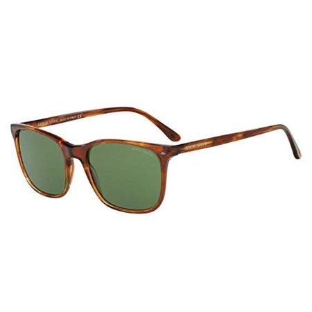 Giorgio Armani Men's 0AR8089 Striped Brown/Crystal Green Sunglasses Giorgio Armani Mens Metal Sunglasses